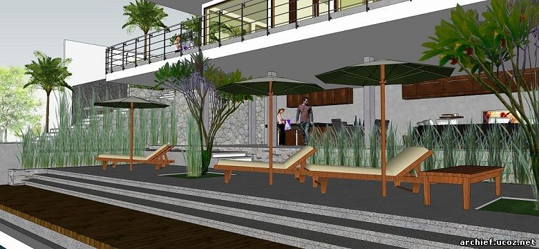 Desain Villa Minimalis Lombok