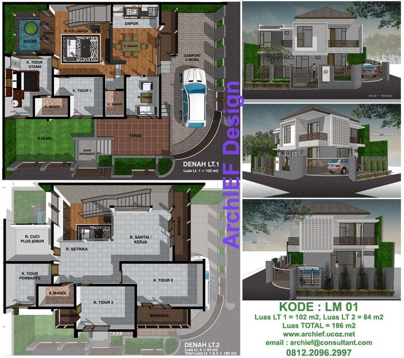 desain rumah 2 lantai luas tanah 150 m2 desain rumah