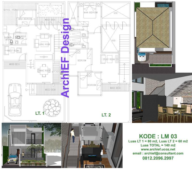 Desain Rumah 140 M2