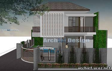 tampak samping rumah minimalis desain rumah minimalis