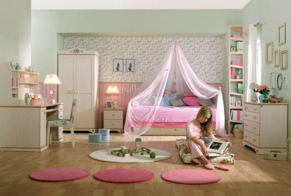 desain kamar tidur feminim rumah idaman
